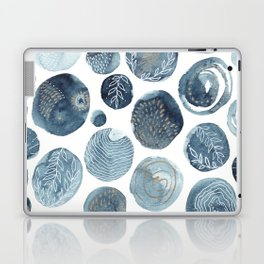 Indigo watercolorInk 03 Laptop & iPad Skin