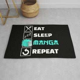 Eat Sleep Anime Repeat I Japanese Manga Anime Gift Rug