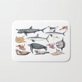 Marine wildlife Bath Mat