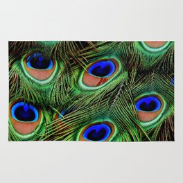 Peacock feathers | Plumes de Paon Rug