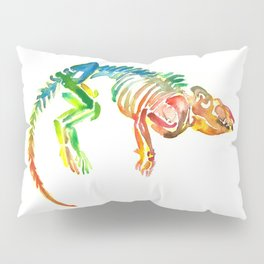 Mammal Fossil Skeleton Pillow Sham