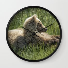 Settling Down Again - Bear Cubs, No. 6 Wall Clock