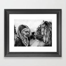 In the Eye of the Tiger Framed Art Print