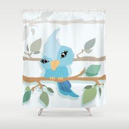 Baby Sparrow Shower Curtain