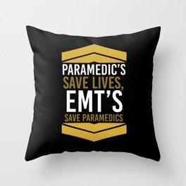 paramedic EMS medical paramedical emergency Throw Pillow