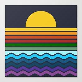 Geometric Rainbow Nature Canvas Print