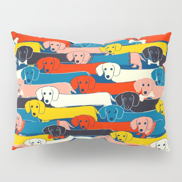 COLORED DOGS PATTERN 2 Pillow Sham