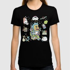 We Came to Explore Black X-LARGE Womens Fitted Tee