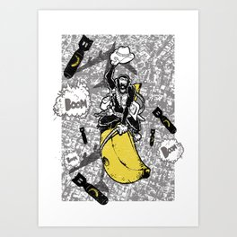 Banana Cowboys Art Print