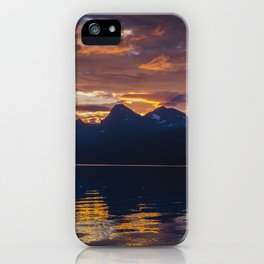 Sunrise Glacier National Park - Lake McDonald iPhone Case