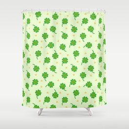 Kawaii Lucky Clover Shower Curtain