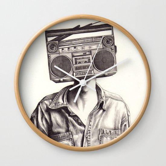 Radio-Head Wall Clock