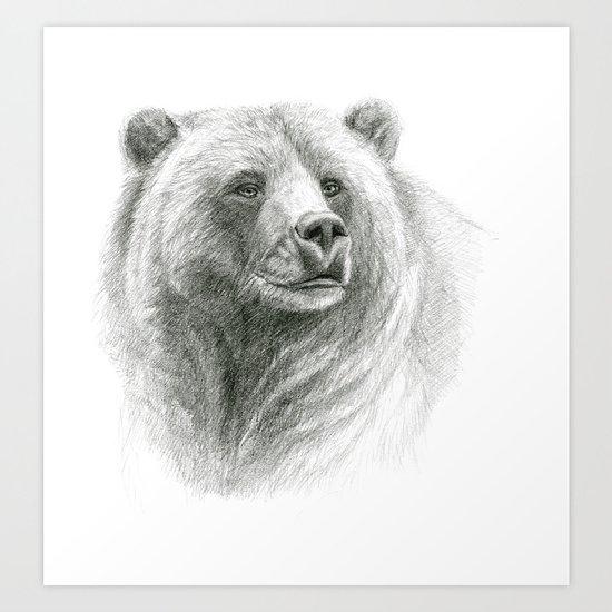 Grizzly Bear G2012-057 Art Print