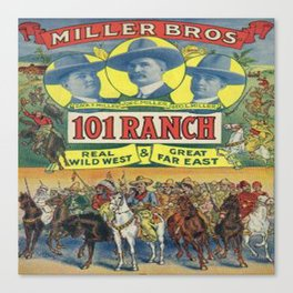 Western Poster 101 Ranch Cowboys Canvas Print