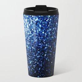 Beautiful Dark Blue glitter sparkles Travel Mug
