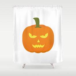 Evil light Halloween Pumpkin Shower Curtain