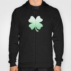 Gradient green and white swirls doodles Hoody