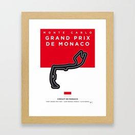My F1 MONACO Race Track Minimal Poster Framed Art Print