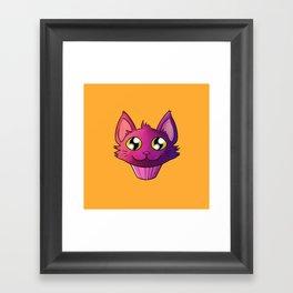 Super Kawaii Neko Muffin Framed Art Print