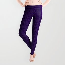 Houndstooth Black & Purple small Leggings