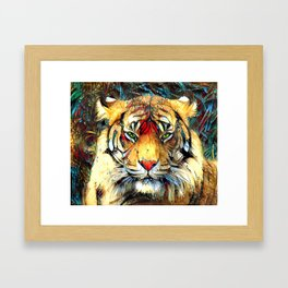 Fantazi (Tiger is Not Amused II) Framed Art Print