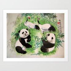 bamboo orchestra Art Print