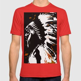 """Native American Indian """"Fearless in Flames"""" T-shirt"""