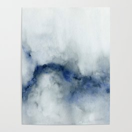 Indigo Abstract Painting | No.3 Poster