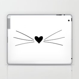 Cat Heart Nose & Whiskers Laptop & iPad Skin