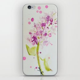 Lilac Sweet Pink Blossom watercolor by CheyAnne Sexton iPhone Skin