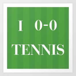 I heart Tennis Art Print