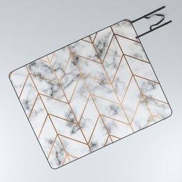 Marble Geometry 057 Picnic Blanket