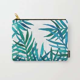 Watercolor Palm Leaves on White Carry-All Pouch