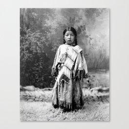 Dakota Sioux Little Girl Canvas Print