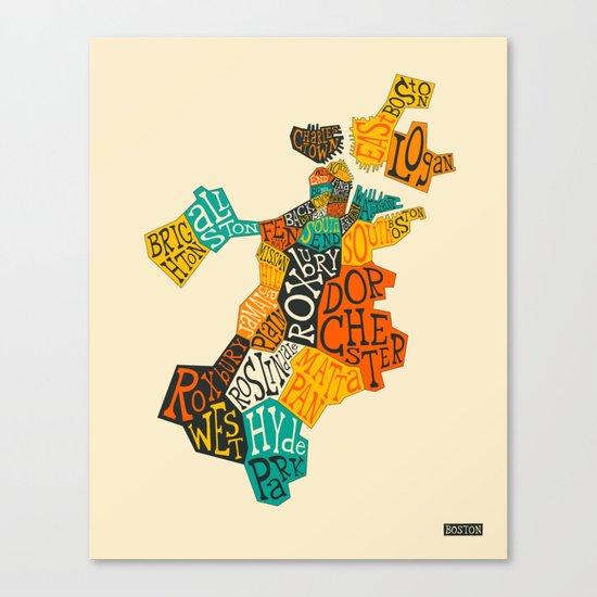BOSTON NEIGHBORHOODS Canvas Print