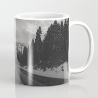 snowboard Mugs featuring December Road Trip in the Pacific Northwest by Leah Flores