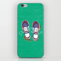 nike iPhone & iPod Skins featuring Nike trainers by Nomeski