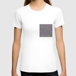 Map land color pattern T-shirt