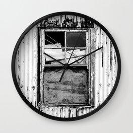 Monochrome window Wall Clock