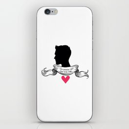 Derek Hale - A predator, not a killer. iPhone Skin