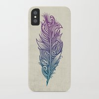supreme iPhone & iPod Cases featuring Supreme Plumage by Rachel Caldwell