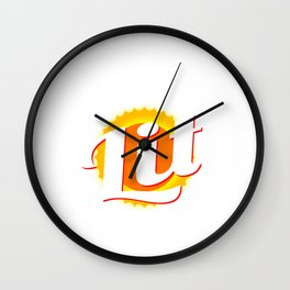"""""""Solar Power Is Lit"""" tee design. Makes an awesome gift to your friends and family! Grab yours now!  Wall Clock"""