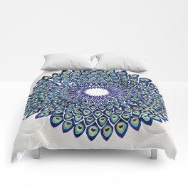 Peacock Mandala – Navy & Gold Comforters