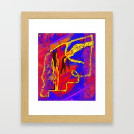 Primary Figure Model Framed Art Print