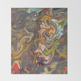 Abstract Oil Painting 26 Throw Blanket