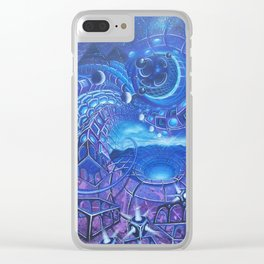 A Blue Hope Clear iPhone Case