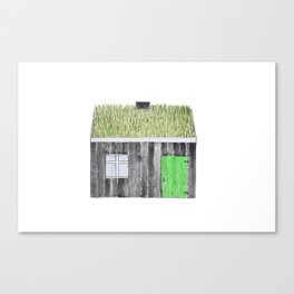 Traditional Faroese House Canvas Print
