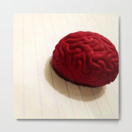Anatomy of an Eraser Brain Metal Print