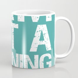 I am not a morning person - Green Coffee Mug