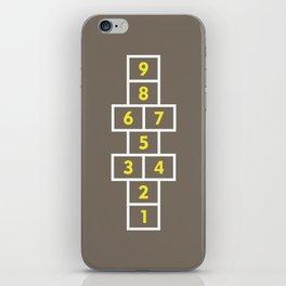Hopscotch Brown iPhone Skin